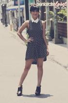 black polka dot dress dress