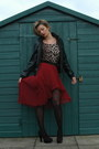 Crimson-pleated-mixi-republic-skirt-black-leather-river-island-jacket