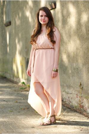 peach Zara dress - tan Primark sandals