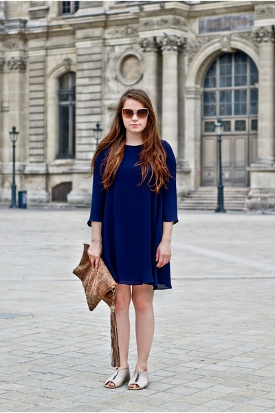 Zara dress - La Rue Bag bag - miu  miu sunglasses - Dico Coppenhagen flats