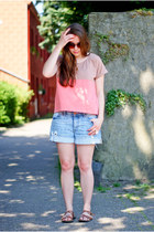 Primark shirt - H&M shorts - FKids are older sunglasses - Musthavede necklace -