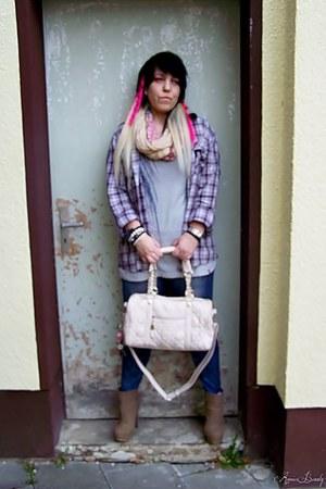 Esprit t-shirt - JustFab shoes - sammydress leggings - JustFab bag
