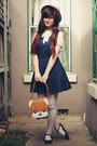 Navy-ax-paris-dress-beige-wholesale-hat-white-oasap-tights