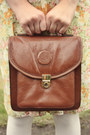 Brown-satchel-vintage-bag-white-opaque-forever-21-tights
