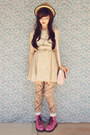 Beige-wholesale-hat-bubble-gum-raben-footwear-boots-eggshell-mod-dolly-dress