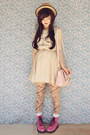 Bubble-gum-raben-footwear-boots-eggshell-mod-dolly-dress-beige-wholesale-hat