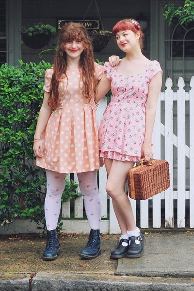bubble gum Bonne Chance dress - light pink Bonne Chance dress