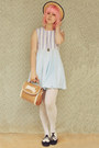 Light-blue-diy-dress-cream-straw-boater-wholesale-hat