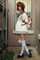 tawny OASAP bag - white Glitters For Dinner dress - white Sock Dreams socks
