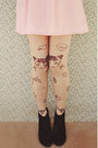 Heather-gray-cat-embellished-oasap-tights-black-rubi-shoes-boots