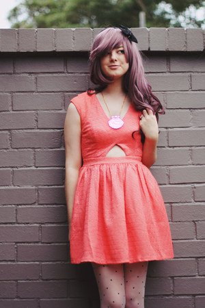 pink mermaid shell I Love Crafty necklace - coral cut out Koogal dress