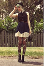 Black-diy-stockings-black-bowler-hat-wholesale-dress-hat-black-oasap-bag