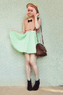 Lime-green-diy-dress-black-rubi-shoes-boots-beige-straw-boater-wholesale-hat