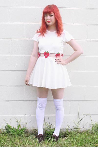 cream DIY dress