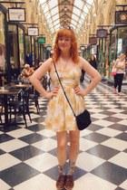 light yellow thrifted dress