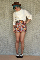 Handmade Floral Pencil Skirt
