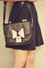 Navy-club-couture-dress-beige-boater-wholesale-hat-black-60s-style-oasap-bag