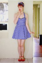 blue DIY dress