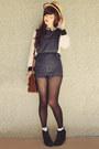 Black-rubi-shoes-boots-dark-brown-satchel-vintage-bag-gold-ebay-bag