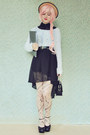 Heather-gray-oasap-tights-black-flatform-style-label-shoes-shoes