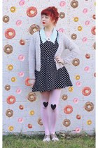 bubble gum I Love Crafty necklace - light pink DIY tights