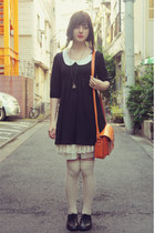 black Momo Wonder Rocket dress - orange satchel bag wholesale bag