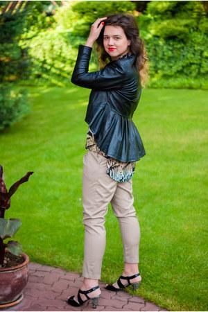 black Shoes Shoes Shoes shoes - black leather handmade jacket