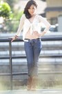 Brown-fringed-boots-navy-dippy-raw-16ds-jeans-eggshell-lace-zara-cardigan-