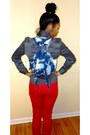 Red-mandee-jeans-red-go-jane-tie-turquoise-blue-mandee-earrings