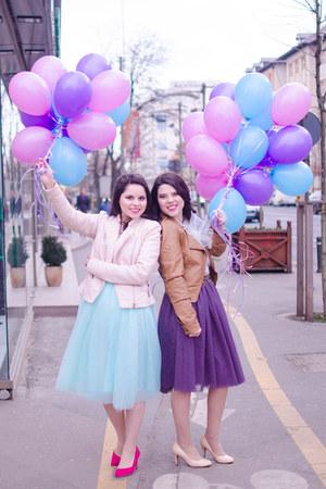 light blue Oana Nutu skirt - purple Oana Nutu skirt