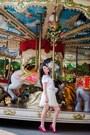 Hot-pink-zara-shoes-white-custom-made-t-shirt-ivory-stradivarius-skirt