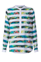 Ava Tropical Stripe Shirt
