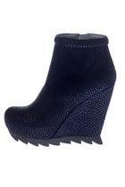 Navy Wedge Boot