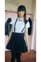 skandal skirt - zara boots - white terranova blouse