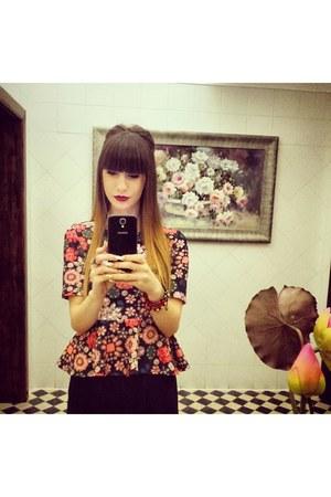 H&M blouse - H&M skirt