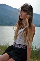 Bershka ring - Koton sunglasses - Esprit t-shirt - Bershka necklace - Glow skirt