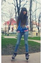 blue terranova College jacket - stradivarius jeans