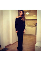 black dior dress