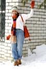 Carrot-orange-h-m-scarf-burnt-orange-michael-kors-bag