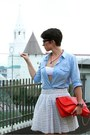 Sky-blue-reserved-shirt-red-zara-bag-off-white-zara-skirt-camel-zara-heels
