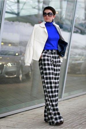 blue Incity sweater - black asos pants