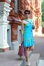 Blue-versace-for-h-m-dress