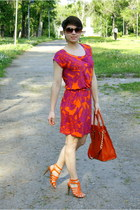 carrot orange reserved dress - carrot orange Michael Kors bag