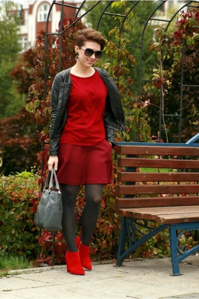 red Zara shoes - brick red Gap sweater - brick red Gap skirt