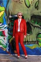 red Zara jacket - ruby red Zara jeans - black 31 Phillip Lim bag