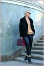 Black-alexander-wang-at-h-m-jacket-maroon-marc-by-marc-jacobs-bag