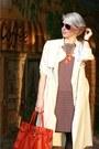 Burnt-orange-cos-dress-ivory-h-m-coat-carrot-orange-michael-kors-bag