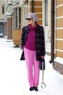 Magenta-uniqlo-sweater-hot-pink-h-m-pants
