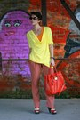 Light-yellow-zara-sweater-carrot-orange-michael-kors-bag-orange-zara-t-shirt