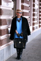 black Mango coat - black 31 Phillip Lim bag - black Zara gloves